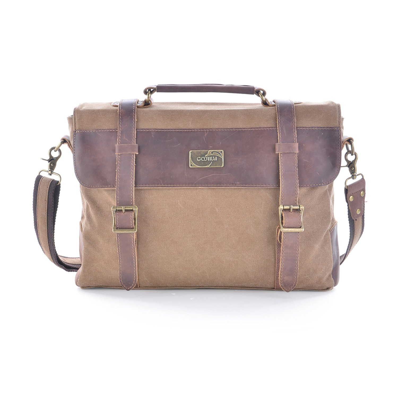 c826af30d0 Buy Gootium Vintage Canvas Leather Messenger Bag Laptop Shoulder Bag ...