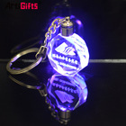 Wholesale Custom Bulk Blank 3D Laser Led Glass Crystal Wedding Souvenir Keychain