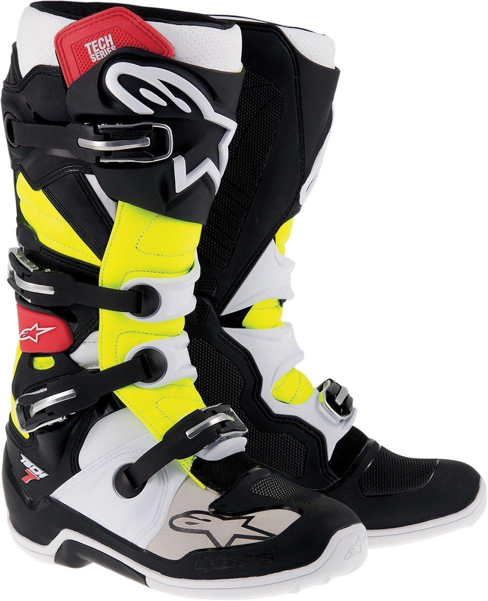 ALPINESTARS Boot Tech 7 Black / Red / Yellow 9 US Size 9