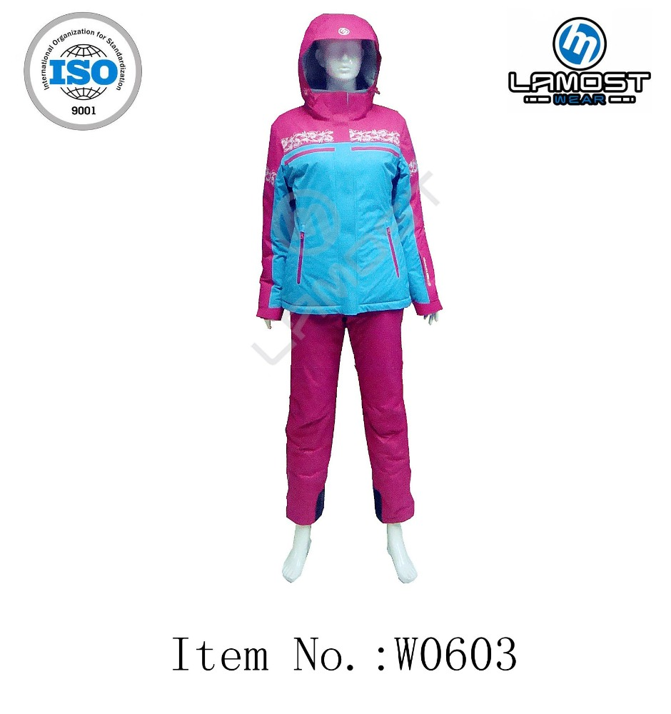 High quality customized female warm snow suit