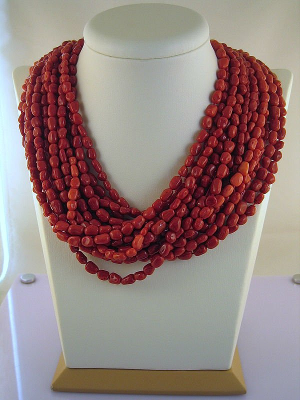 Natural Red Italian Coral - Stone
