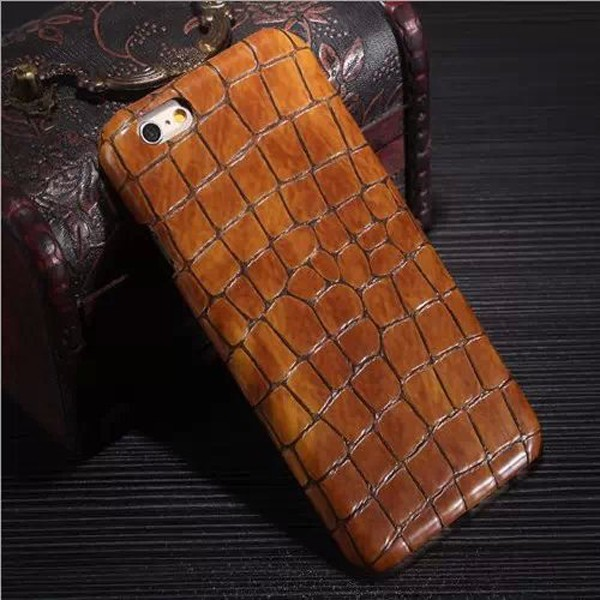 Hard PC Leather Mobile Phone case for iphone 6plus