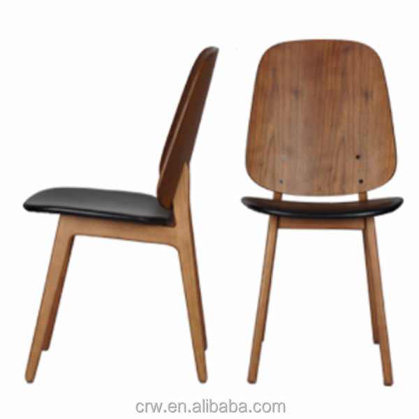 RCH-4275 Cheap Price Solid Oak Dining Chair With Leather Seat Pad
