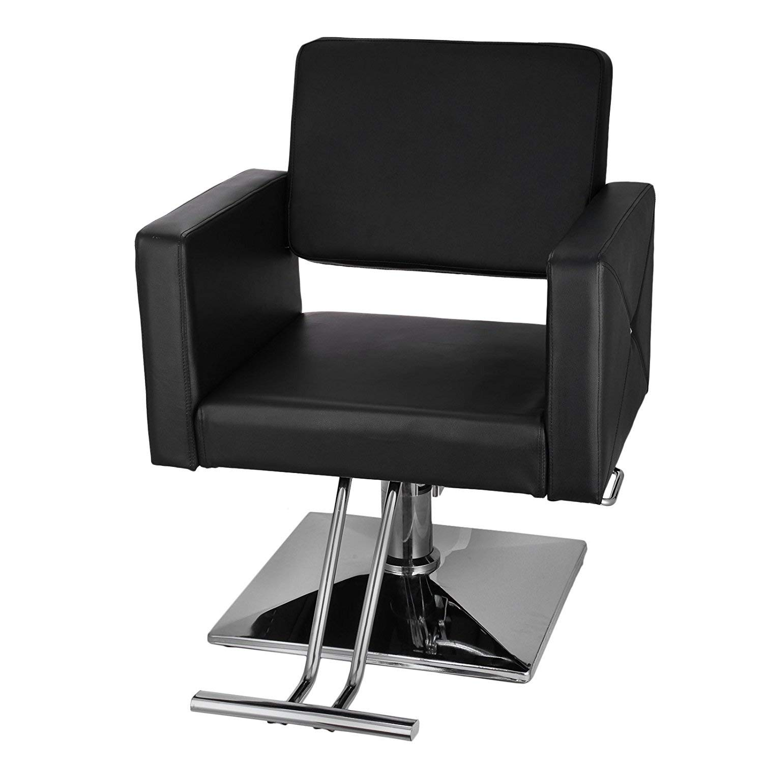 Mophorn Classic Hydraulic Barber Chair Comfort Styling Chairs for Salon Modern Hydraulic Lift Square Barber Chair Salon Beauty Equipment Hairdresser Tattoo Shaving Barber Chair