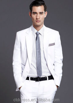 Handsome Tailored Fashion Design The Best Man White Tuxedo Suit For Wedding