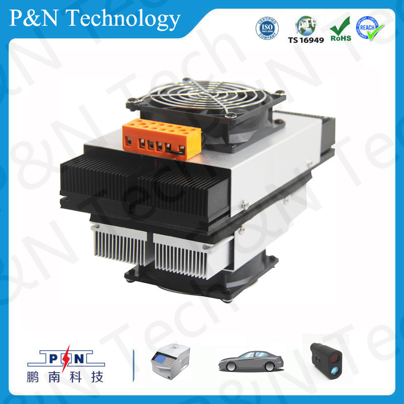 Chinese prodcut 70W 2.5KG 12v thermoelectric cooling technology with heat sink for cabinet cooling