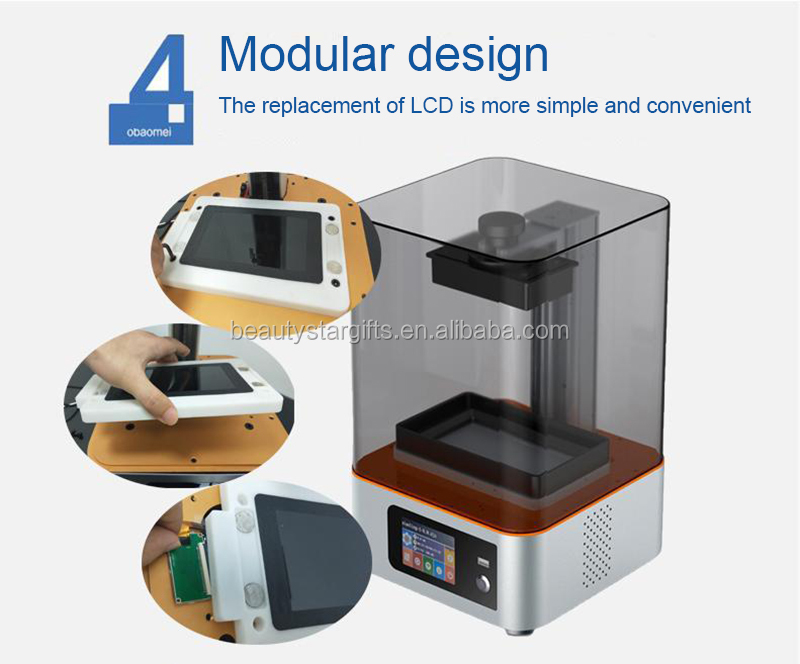 New SLA 3D printer High precision dental/jewelry LCD light Curve 3d printer Wholesale factory