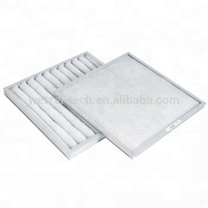Flame resistance Primary hvac dust panel pleated pre filter disposable filter