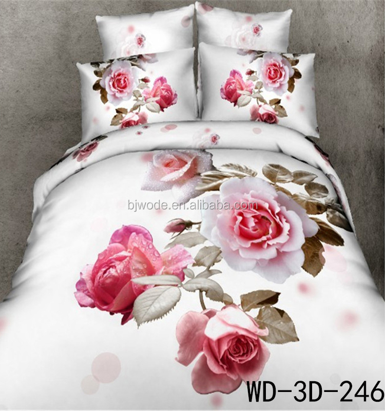 3d sewy flower new design microfiber fabric for bedsheets