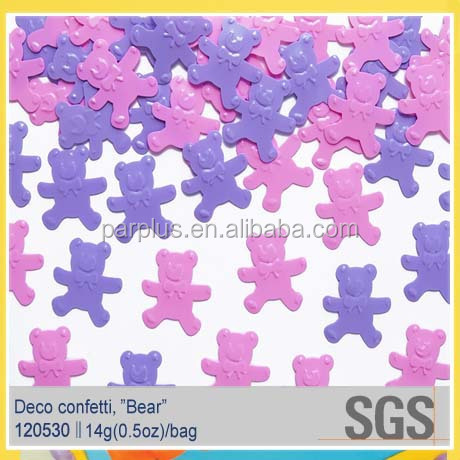 Baby Shower Roze Beer confetti