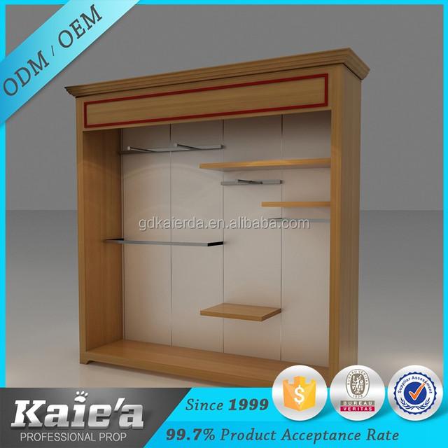 High Quality Wooden Clothes Cabinet Door Display Rack