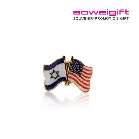 High Quality Custom Metal USA American Flag Soft Enamel Country Flag Gold Plating Lapel Pin