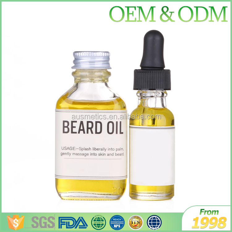 OEM factory directly men beard styling product organic mustache care portable natural coconut oil beard oil