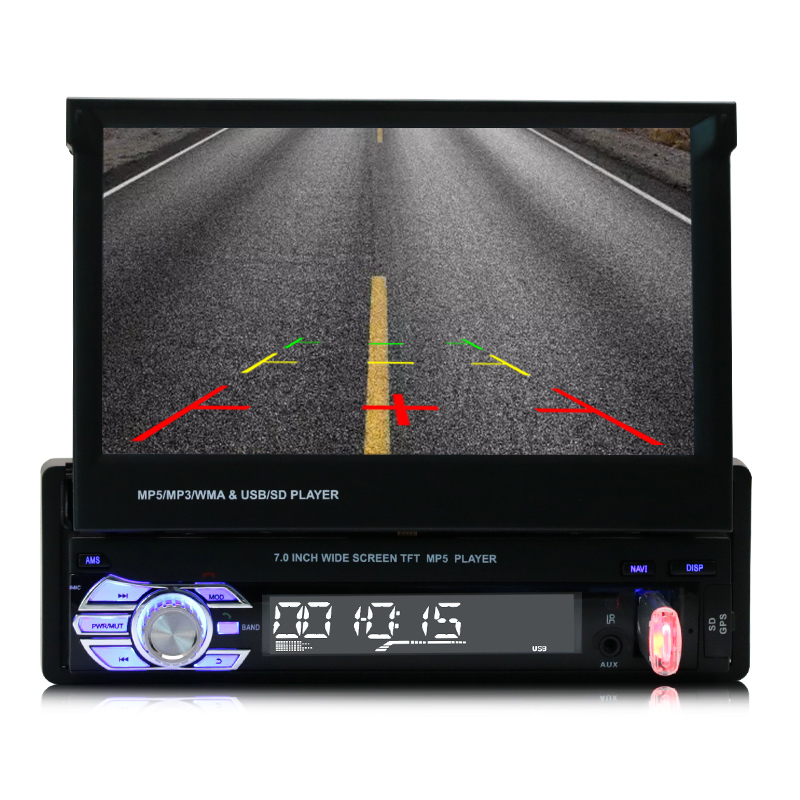 7 pollice touch screen in dash remote control car radio stereo mp5 player con bluetooth usb aux