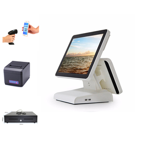 All in One Retail Point of Sale System With POS PC,Printer,Scanner and Cash Box