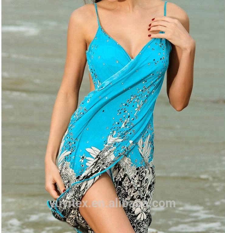 Women's Spaghetti Strap Backless Beach Dress / Bikini Wrap Cover Up