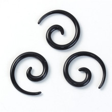 2mm Acrylic Ear Stretcher Expander Spiral Black Ear Piercing Ear Tapers