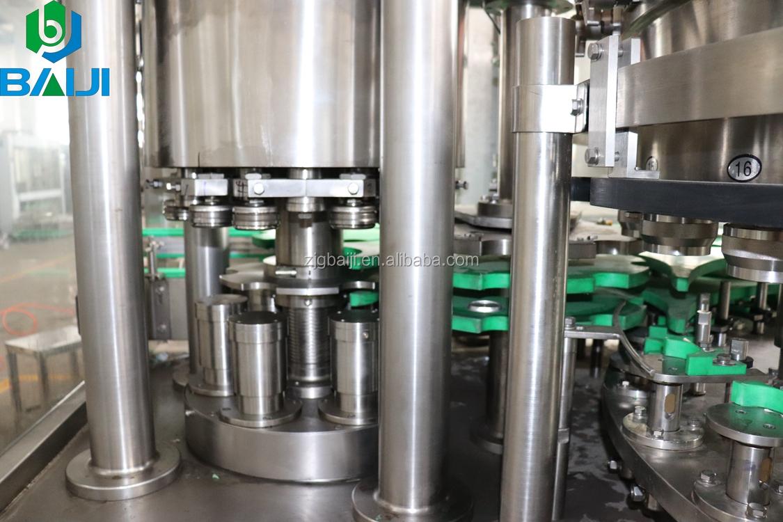 2 في 1 التلقائي الغازية مشروب غازي البيرة المشروبات تعليب خط/الروتاري ملء وختم الآلة/النظام