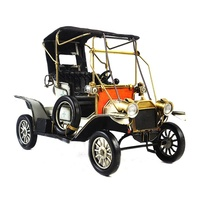 New Arrival Length 35.5 CM Antique Style Metal Car Vintage Old Car Model For Home Decoration