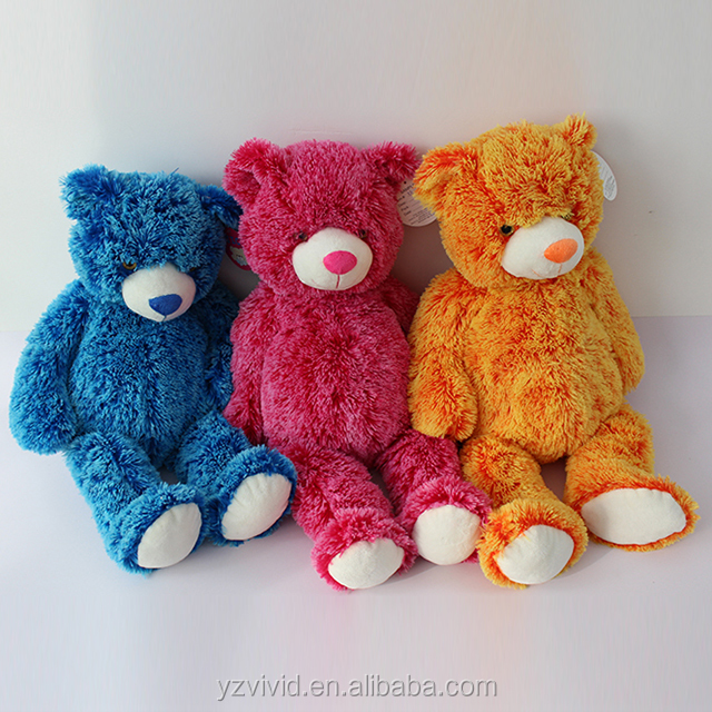 Various types of smalll and colourful plush teddy bear toy