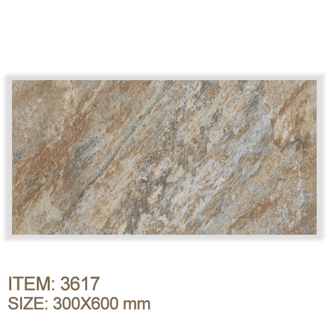 Anti-Slip Modified Clay Ceramic Outdoor Stone Walltile