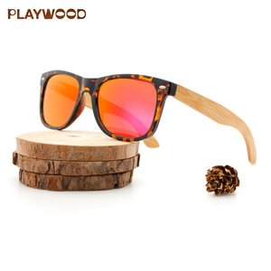 2019 New Fashion Natural PC Wooden Sunglasses