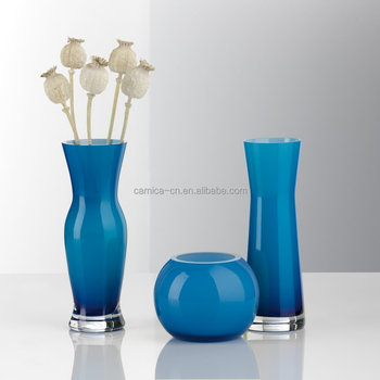 Flower Glass Vase Set Solid Color Glass Vasecolorful Glass Vase