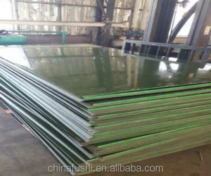 green color plastic FFP Twice Hot-Pressing green color Film Faced Plywood / Phenolic glued Construction Plywood