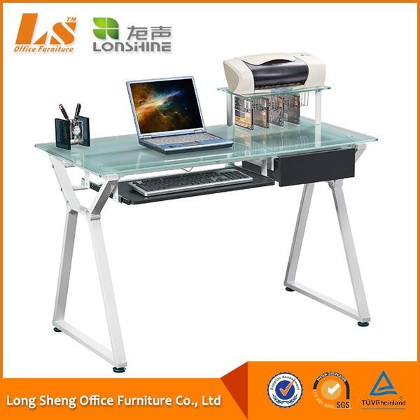 Mesas de estudio cristal interesting escritorio mueble - Mesas estudio cristal ...