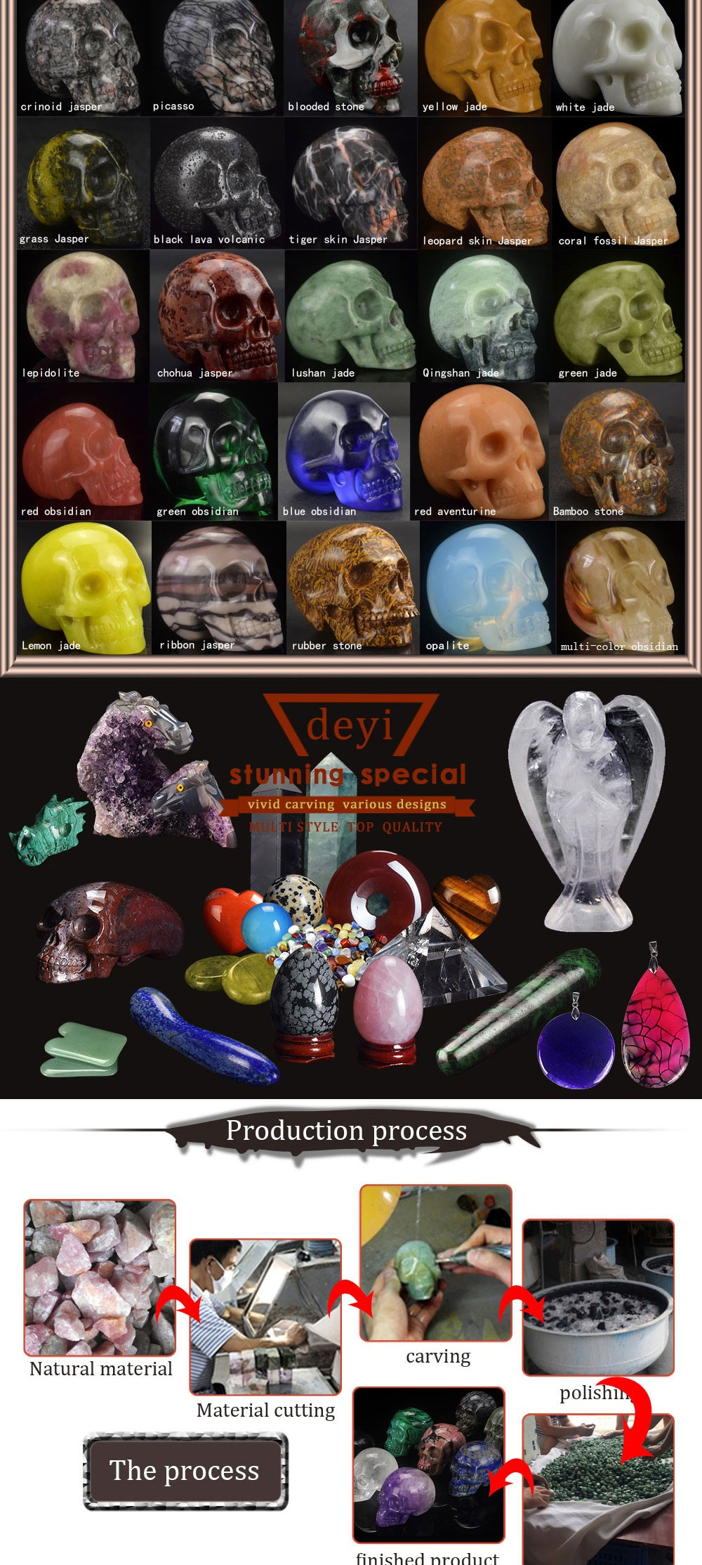 3 Inch Green Glass Craft Carved Glass Crystal Skulls For Gift ...