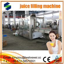 Small Factory Automatic Bottle Filling Line Of Fresh Fruit Juice Production Line automatic 3 in1 juce filling machine