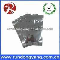 Custom aluminum foi zip lock/zipper packaging bags