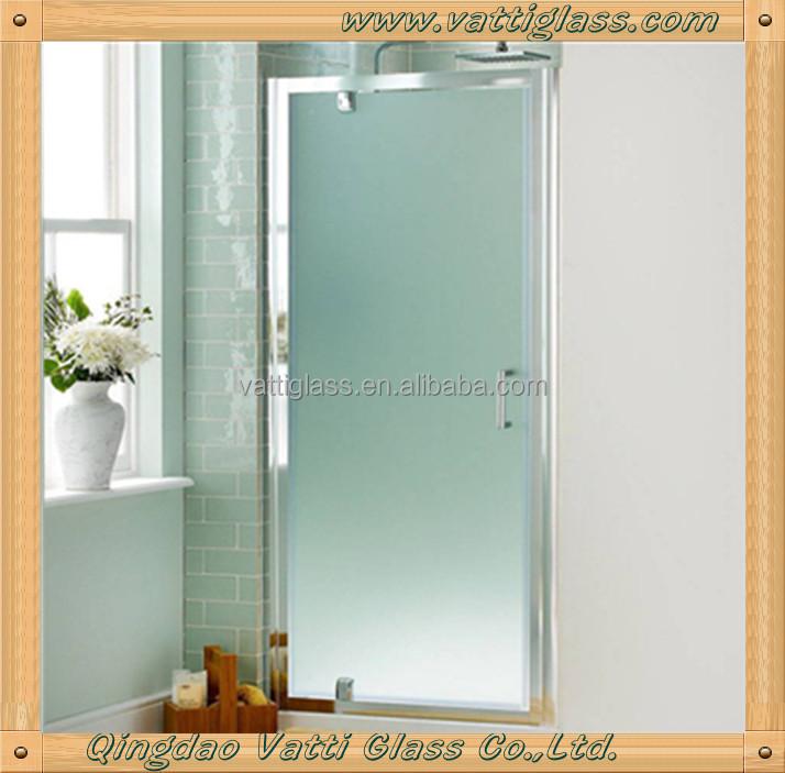 4-15mm gehärtetem säure geätzt matt badezimmer interieur außentür, Badezimmer
