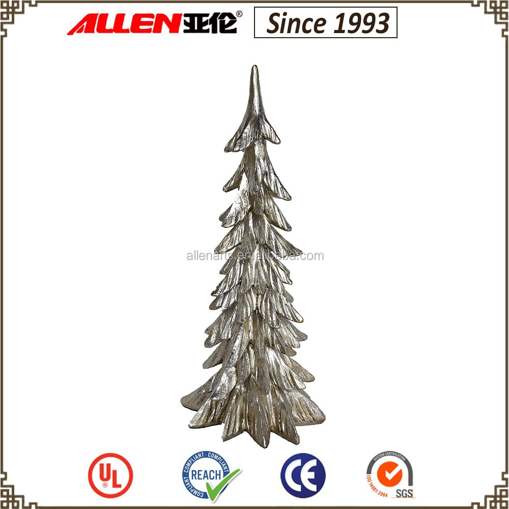 "17.3"" silver polyresin Christmas tree, cheap large artificial Christmas tree for sale"