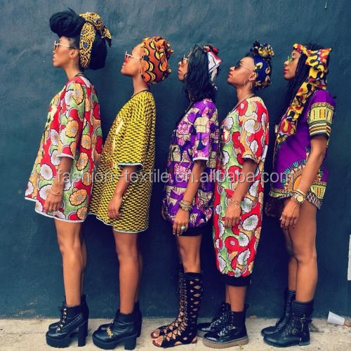 African Fashion Girls Printed Dress Model show (4) Chowleedee Hot Sale african wax prints fabric quality wax for making clothes