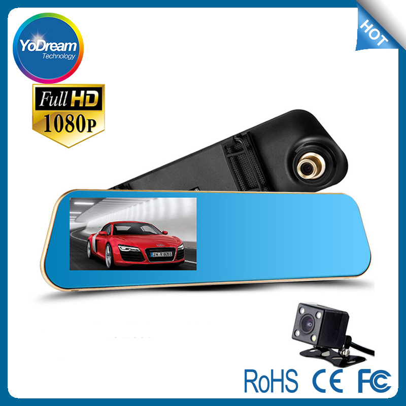 "Shenzhen Factory 12"" Inch Dual Camera Car DVR Rearview Camera Mirror Full HD 1080P Ultra-Thin Back Up Camera Car Driving Record"