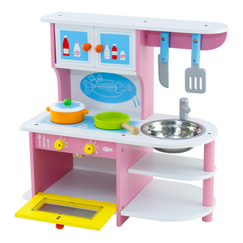 Wood Stove Hands Simulation Assembled Toys Children Play Kitchen Girls Pink Buy Wooden Play Kitchen Wooden Pretend Play Kitchen Simulation Toy