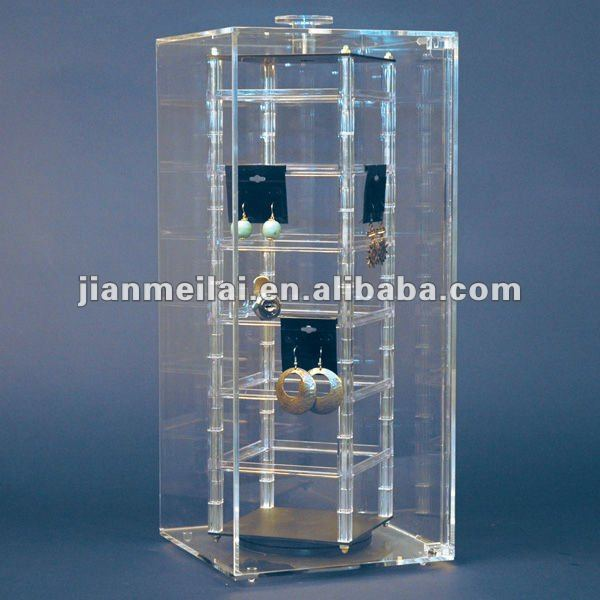 Acrylic Transparent Rotating Jewelry Earring Display Stand