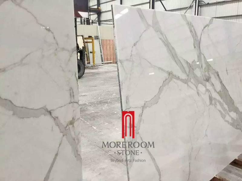 Foshan wit statuario composiet aluminium honingraat marmeren tegel ...