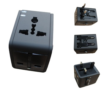 China wholesale international EU AU NZ UK US travel adaptor plugs Universal multi usb travel adapter