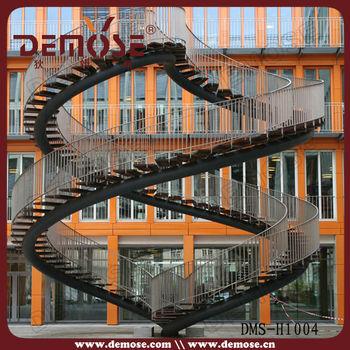 Outdoor/ Exterior Metal Stairs/ Staircase Design - Buy Outdoor Metal ...