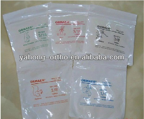 2014 orthoodntic Elastic Zoo pack with CE,ISO,FDA