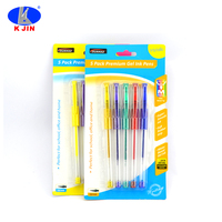 wholesale plastic ballpoint pen 5 color for students market hot sale products supply good quality with low price