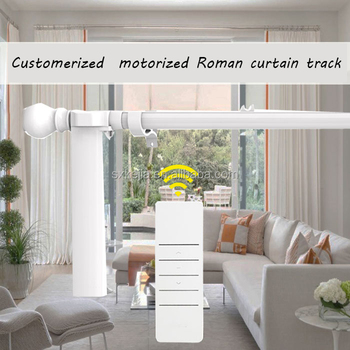 Free Shipping Silent Motorized Curtain Track,Roman Motorized Curtain Used,  Dooya Motor KT82TN