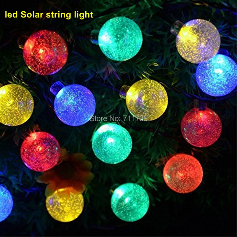 4set 30 led 6m led solar string lights outdoor solar - Decorative garden lights solar powered ...