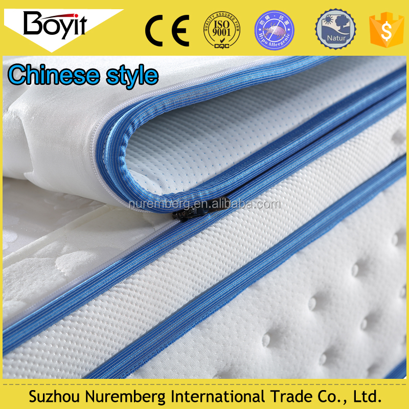 household king size mattress with zipper/super king size mattresses/king size pillow top mattress