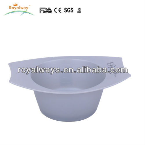 Reusable Eco-friendly plastic hair coloring bowl,with anti-slip mat at bototm