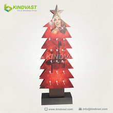 Christmas Style Floor Standing Cardboard Display for Lipstics or Lip Care