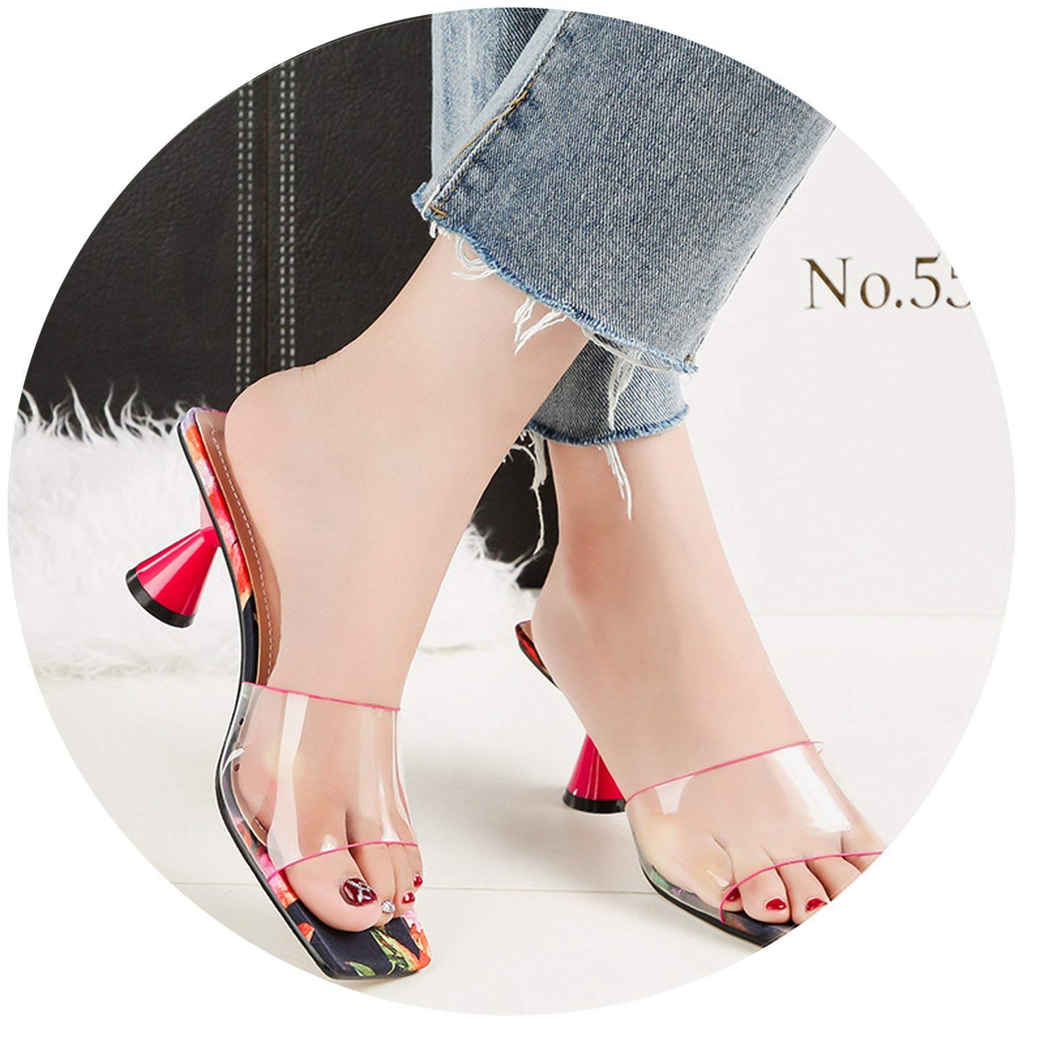 72df58dcdf9 Get Quotations · Shiny-Fashion-Dream-mules-shoes Women Crystal 6cm High  Heels Mules Shales