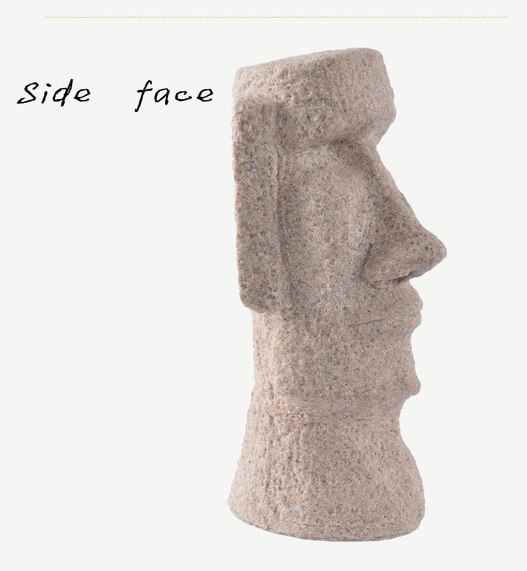 Classic Shots Easter Island Statues Easter Gifts Creative Household  Decoration Fine Sandstone Polished Crafts - us64 393faa48870a